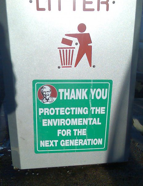Eating KFC affects your spelling