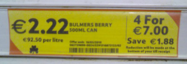 Bulmers is a super premium cider