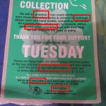 Clothing collection sticker