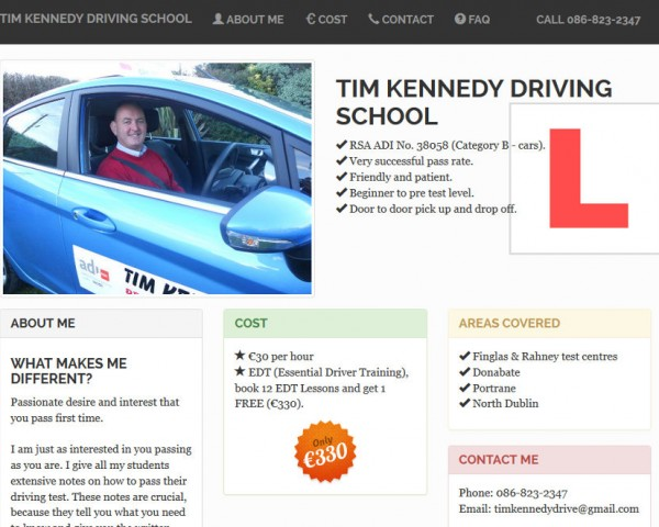 Tim Kennedy Driving Instructor
