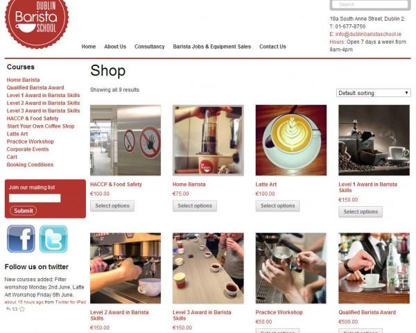 Dublin Barista School – online booking