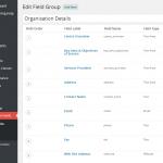 Advanced Custom Fields drag and drop editor screen