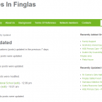 Page showing recently updated organisations with links to view and edit the listing.