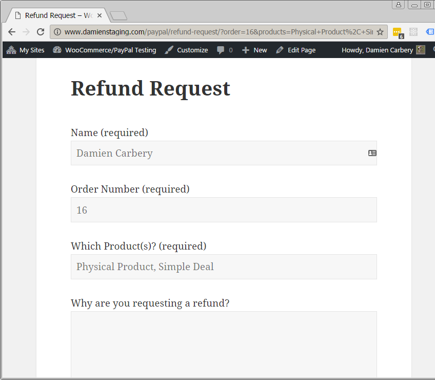 Refund Requests for WooCommerce Customers – using Contact Form 7
