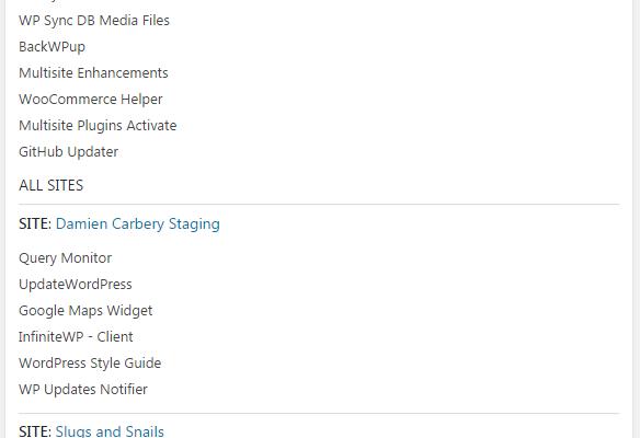 WordPress Multisite – List Active Plugins