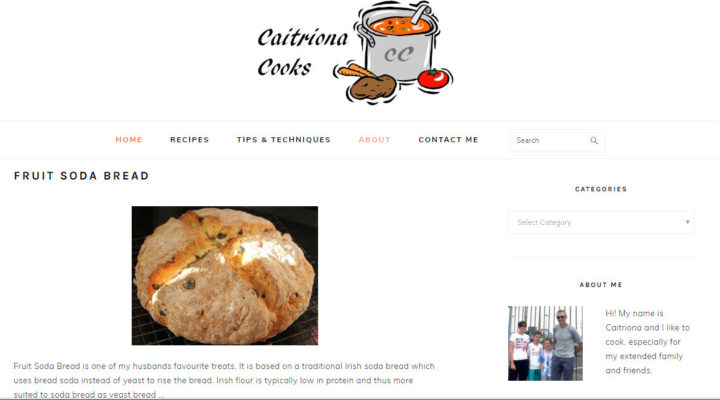 CaitrionaCooks home page