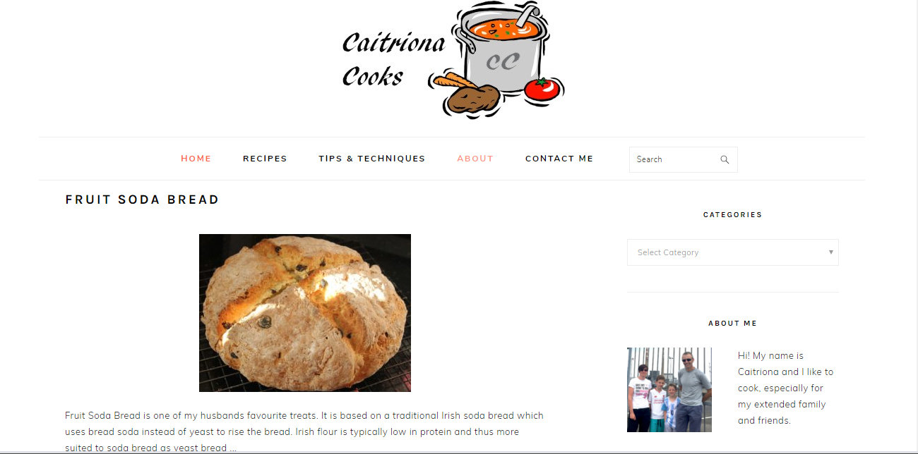 CaitrionaCooks home page