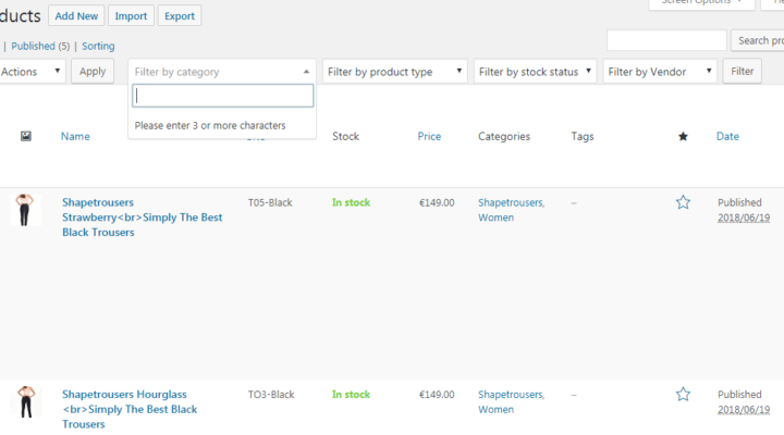 WooCommerce Filter by category dropdown