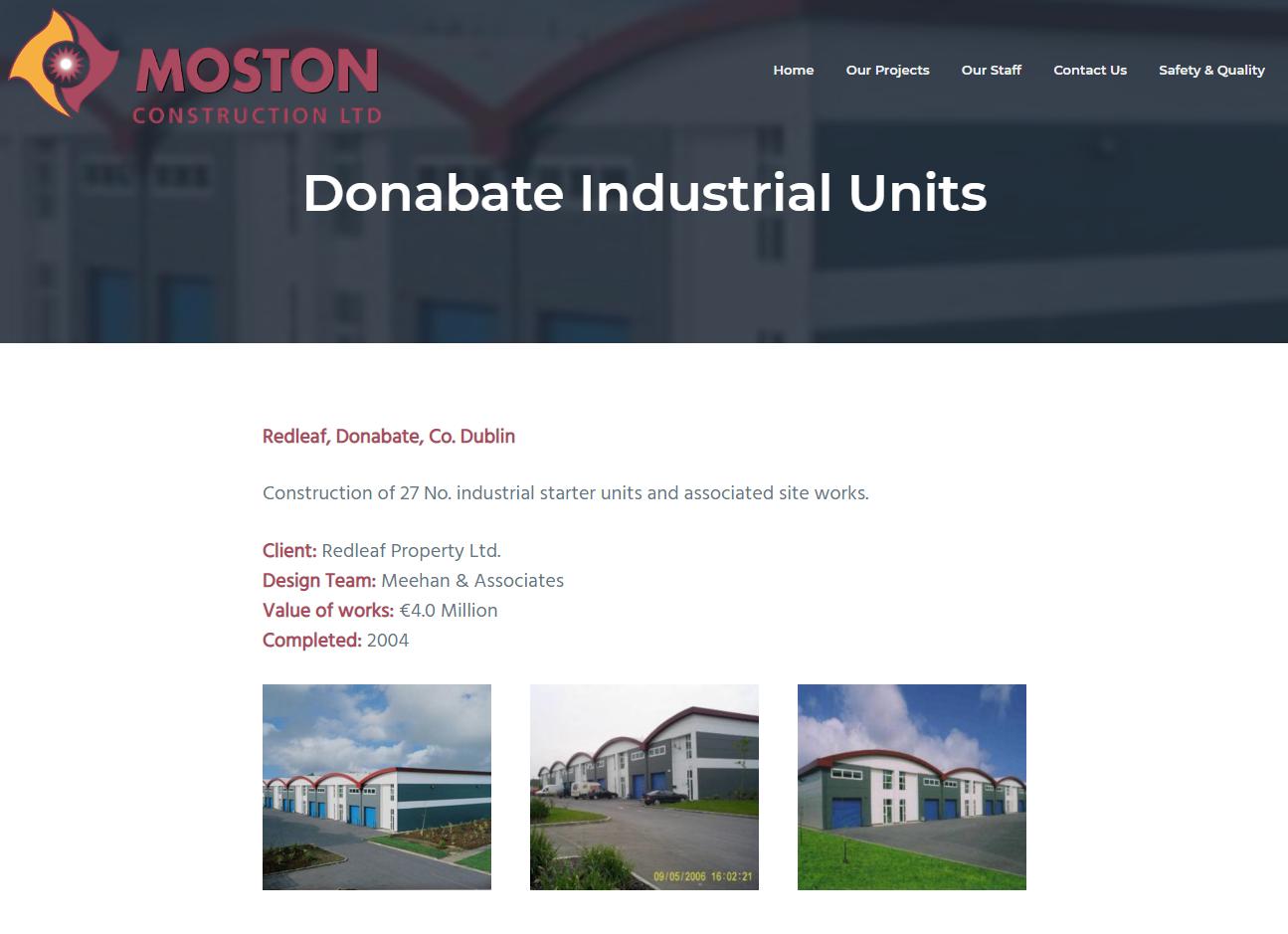 Moston Construction portfolio item