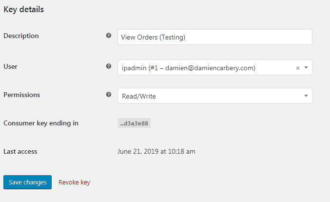WooCommerce REST API authentication | Damien Carbery
