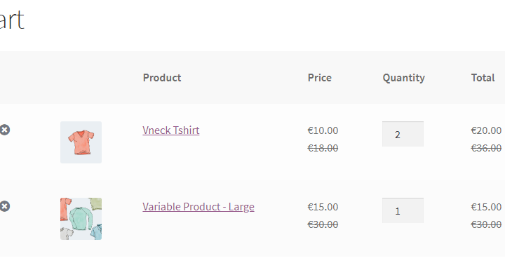 Show regular price in cart and checkout when using WooCommerce Wholesale Prices