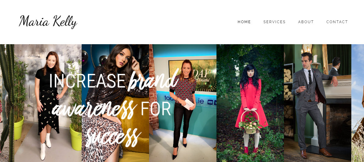 Screenshot of Maria Kelly Fashion website