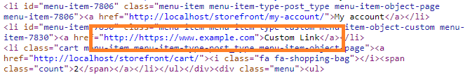 Custom link with the expanded shortcode as the url but HTTP is still there.