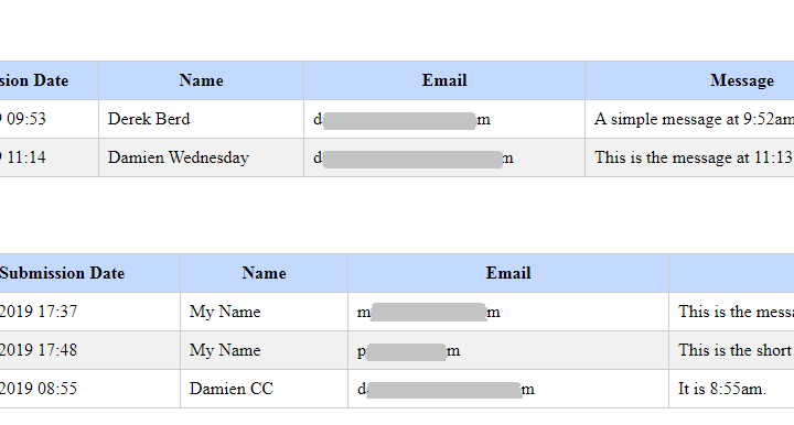 Retrieve Ninja Forms Submissions for date range