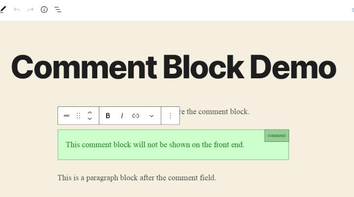 Comment Block for Gutenberg